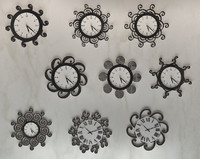 9 swirly clock designs