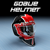 3d ice hockey goalie helmet model