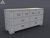 stand closet 3d model