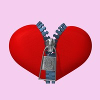 3d model unzip heart