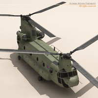 3d model ch-47 chinook helicopter