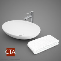 modern sink towel 3d model
