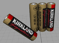 kirkland signature aa battery 3d obj