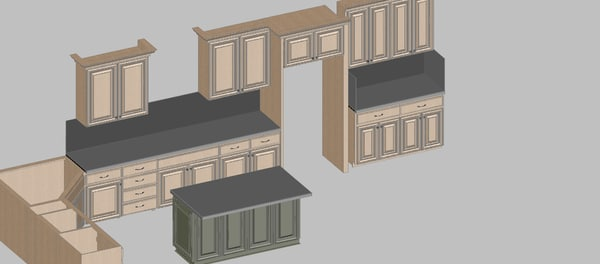 3d model kitchen - Kitchen_01... by Duvie23