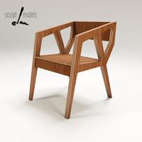 kart chair 3d model