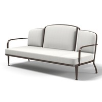 Mcguire Belmont Outdoor settee sofa Barbara Barry art deco bb-13 furniture