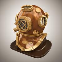 3d helmet v diver model