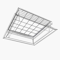 Fixed glass rooflight