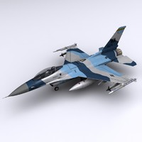 3d model general dynamics f-16 fighting falcon