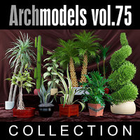 archmodels vol 75 plants 3d model