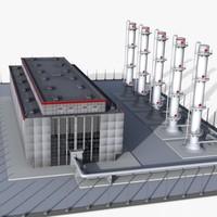 factory plant 3d 3ds