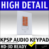 Russound KPSC Home Audio Wall Mount Source Keypad 3D Model