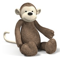 3d monkey toy kid model