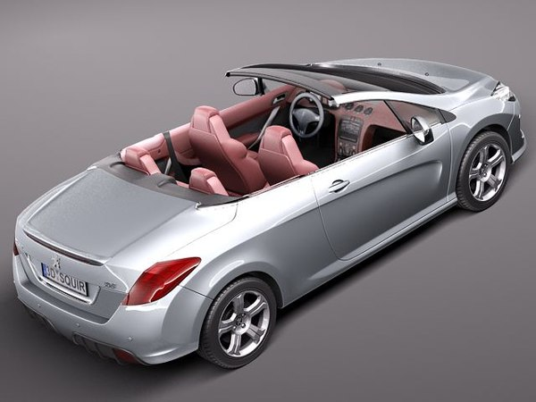 3d model peugeot 308 cc convertible. Black Bedroom Furniture Sets. Home Design Ideas