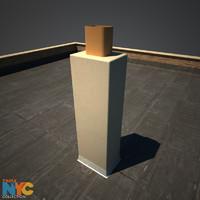 3d model rooftop chimney studios