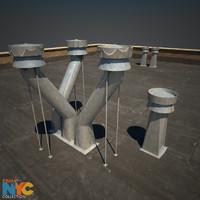 3d rooftop vent studios