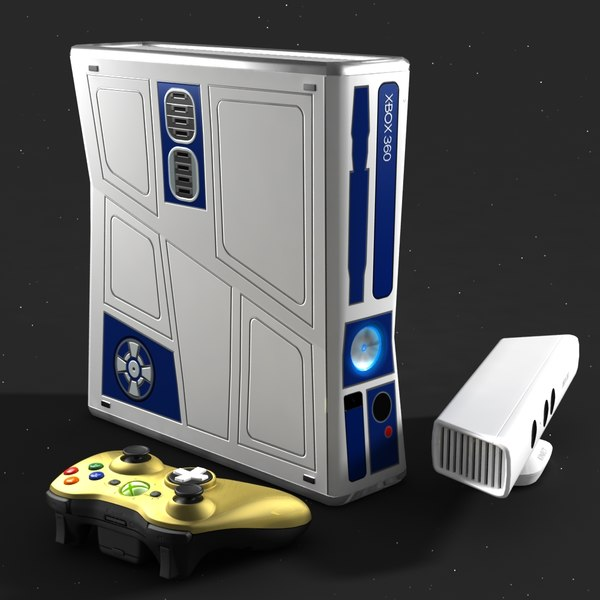3d star wars xbox 360 model - Xbox 360 Star Wars Bundle... by MotionTech
