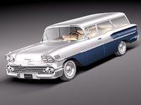 3d model chevrolet nomad 1958 58