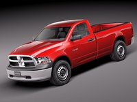 dodge ram cab pickup 3d 3ds