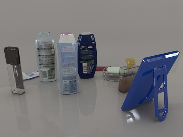 shampoos deodorants bathroom c4d - Toiletries Collection... by DR Graphics