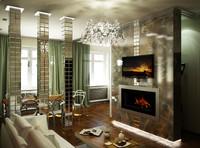 interior 3d obj