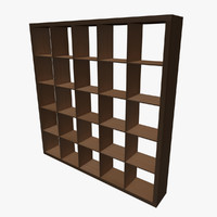 3d square shelving model