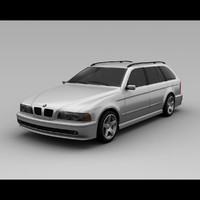 bmw wagon 2003 3d model