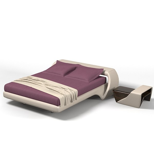 Air lounge Meritalia modern contemporary designers double bed bedroom padded leather.jpg