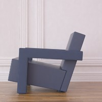 ultrecht chair rietveld 3d model