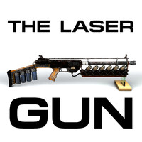 3d bio laser gun rifle model