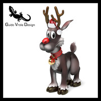 Cartoon style Rudolph reindeer