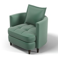 3d model tufted club chair