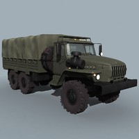 russian long hood truck 3d 3ds