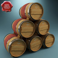 c4d wine barrel v2