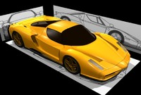 3d model of ferrari enzo