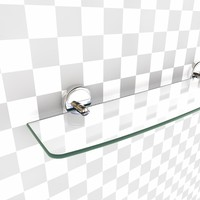 glass shelf 3d model
