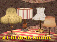 3ds max lamps old 4 desk