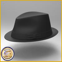 3d hat fedora model