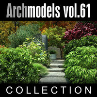 archmodels vol 61 plants 3d max