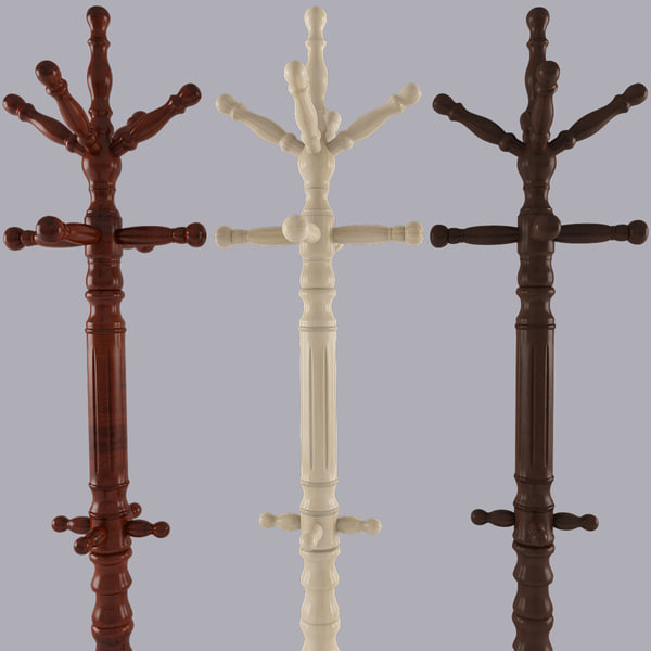 3d coat rack model - Coat Rack... by 3dlittlebee