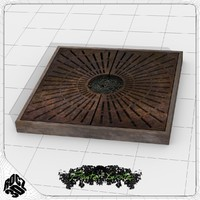 3ds max tree planter grate