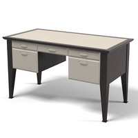 Promemoria Theo Desk Work Table modern contemporary leather designer