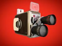 vintage movie camera c4d