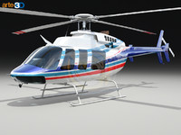 3ds max bell 407 helicopter