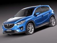3d model of mazda cx-5 suv 2012