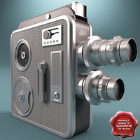 old movie camera silver max