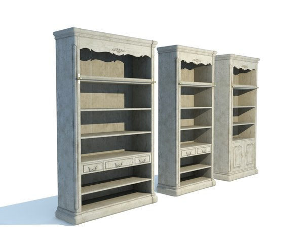 maya country corner bookcase - Country Corner Bookcase... by 3dlibrary