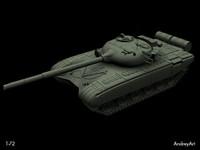 3d model t 72 t-72