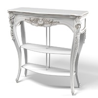 Chelini 2061 Classic Console Table carved Baroque Etagere