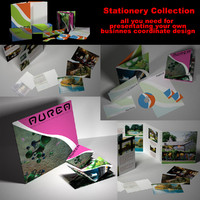 3d model business stationery